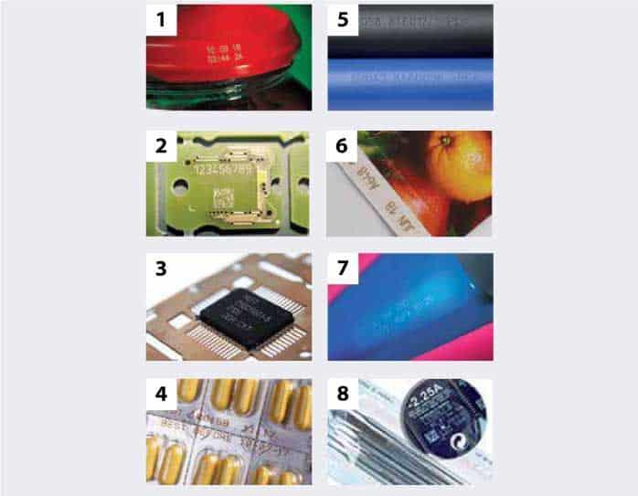 วัสดุ ที่เหมาะกับ เครื่องพิมพ์วันที่ผลิตเลเซอร์ ระบบ Fiber Laser&Co2