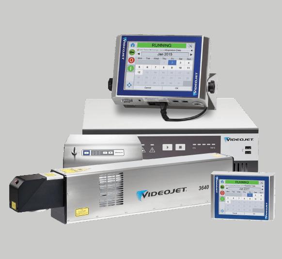 เครื่องพิมพ์วันที่ผลิตเลเซอร์ VideoJet CO2 และ Fiber Laser