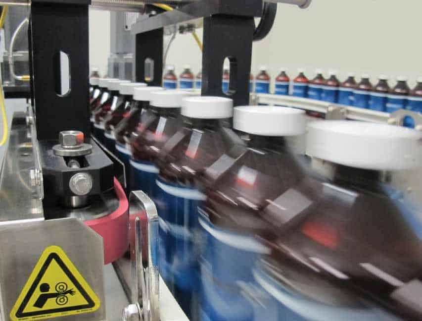 สายการผลิตบรรจุภัณฑ์ในโรงงาน