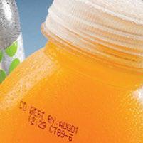 ตัวอย่างการพิมพ์ เครื่องพิมพ์วันที่ ขวดน้ำส้ม