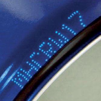 ตัวอย่างการพิมพ์ เครื่องพิมพ์วันที่ บนกระป๋องน้ำอัดลม